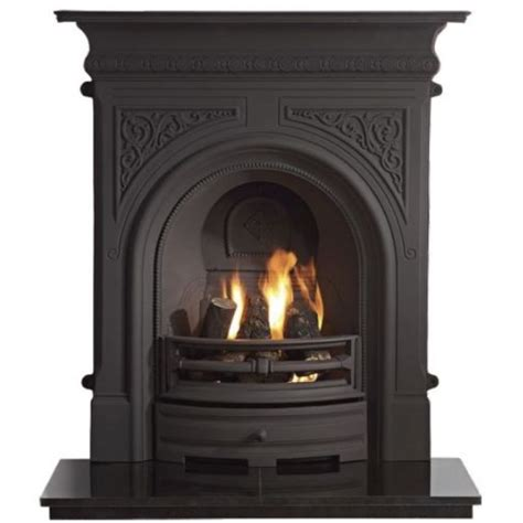 Castiron Fireplace by Gallery Collection Celtic Cast Iron Combination Fireplace