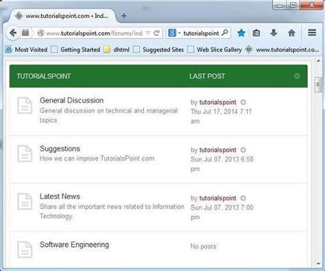 tutorialspoint web technology websites types