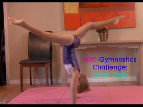 alphabet gymnastics challenge abc gymnastics challenge sister style youtube