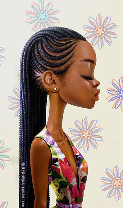 nigerian unique plaiting lines artstation commissioned piece mervin kaunda