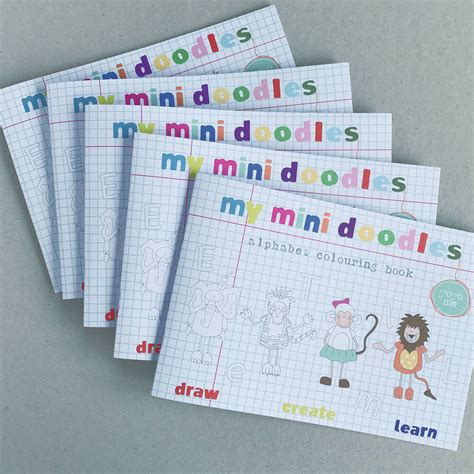mini doodle book mini doodles colouring book pack by yoyo me