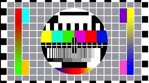 color tv broadcast color tv broadcast bad sync tv television screen with