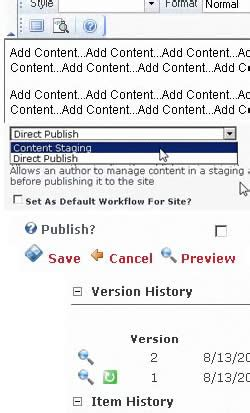dnn workflow content staging workflow tutorial html module dotnetnuke