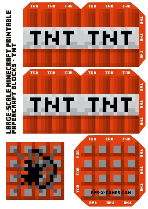 minecraft tnt block template large scale minecraft printable tnt block