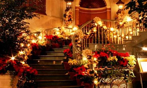 most beautiful christmas decorated homes christmas time wallpapers