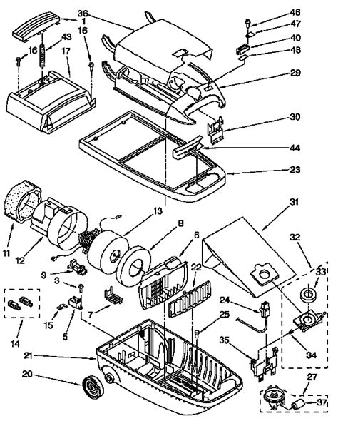 kenmore vacuum model 116 parts diagram 116 2441290 kenmore canister vacuum cleaner manual