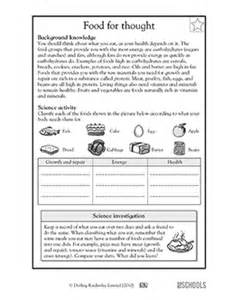 5th grade science worksheets food for thought greatschools