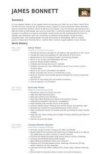 pastoral resume template ministry resume helps