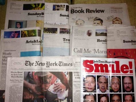new york times sunday sections blog the new york times print versus tablet on a lazy
