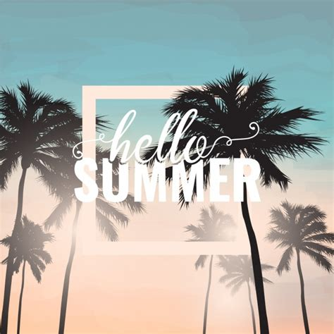 Fotos Palmen 2889 by Hello Summer Background With Palm Tree Vector Free
