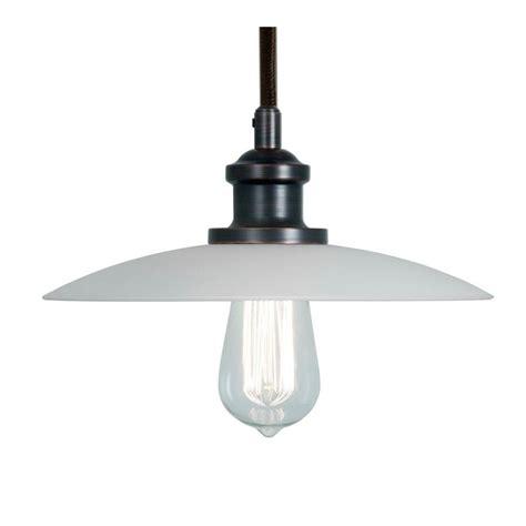 Home Decorators Collection 1 Light White Ceiling Saucer Saucer Pendant Light