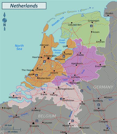 netherlands map map geography map