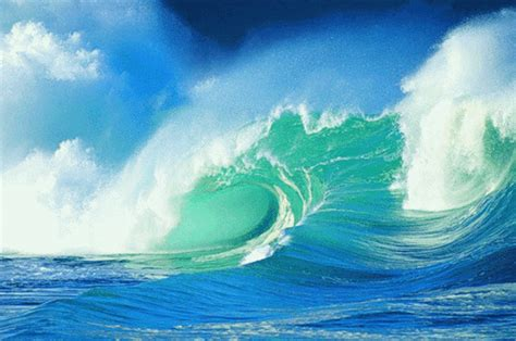 wallpaper ombak bergerak ocean gif gif find share on giphy