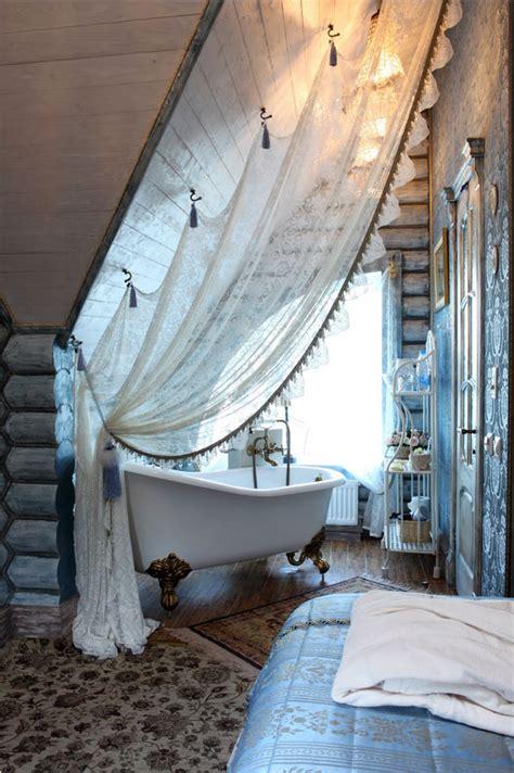 vorhang in dachschräge stilvolle vorhang als raumteiler ideen