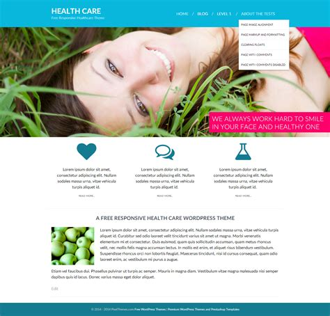 theme wordpress free health a free health care responsive wordpress theme pixelthemes