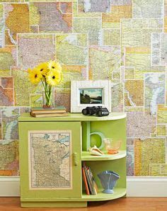 Can You Use Wallpaper For Decoupage - temporary wall covering on housing