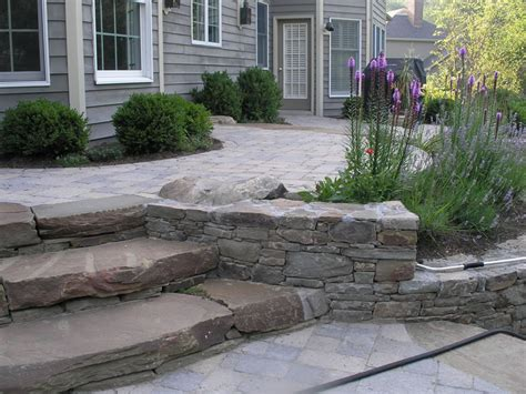 How To Build A Raised Paver Patio Hardscape Design Baker Landscape Amp Irrigation Inc