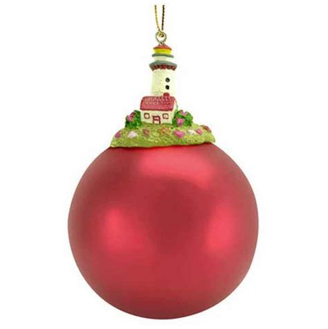 best ornaments for christmas tree buy red top lighthouse red ball christmas tree ornament