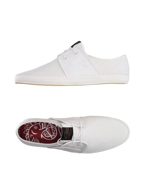 fish n chips shoes fish n chips low tops sneakers in white for lyst