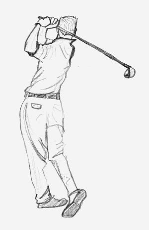 golf swing draw golfer after swing sketch animator island