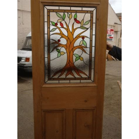 Doors Sd056 Victorian Original 3 Pannelled Stained Stained Glass Exterior Doors