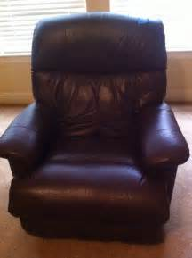 Leather lazy boy recliner dark brown in color ebay