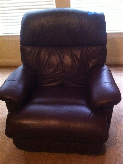 leather lazy boy recliner brown in color ebay