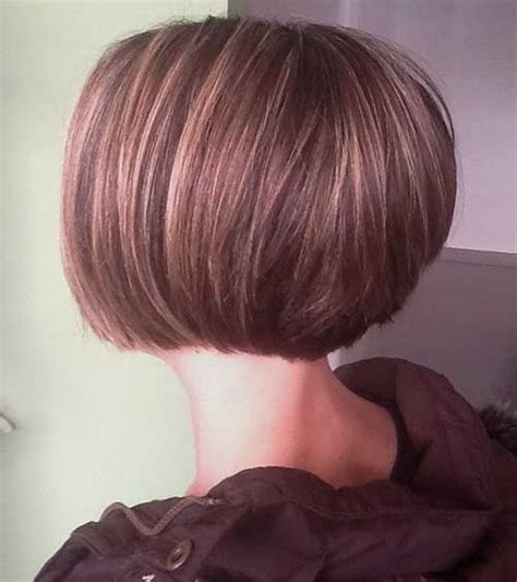 15 short stacked haircuts short hairstyles 2016 2017 short and stacked wavy cut side view dark brown hairs