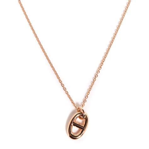 Hermes Hm022 Rosegold hermes 18k gold farandole necklace pm 100326