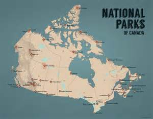 national park canada map national parks