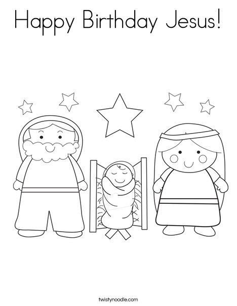 Happy Birthday Jesus Coloring Page printable happy birthday jesus coloring coloring pages