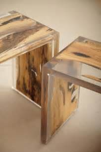 encased nesting table resin wood dise 241 o de interiores