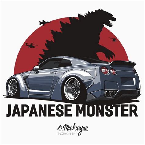 Tshirt Japanese Godzilla Gtr 189 best images about automotive arts on cars