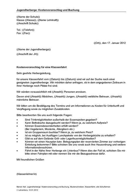 beschwerdebrief jugendherberge arbeitshilfen 183 grundschule 183 lehrerb 252 ro