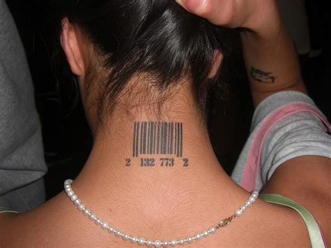 barcode lip tattoo barcode tattoos neck clipart library