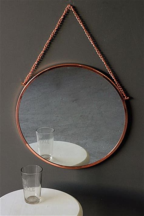 copper bathroom mirrors bonlina copper circular mirror on chain bathroom mirror