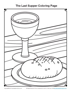 coloring page for the last supper last supper coloring page for maundy thursday on sunday