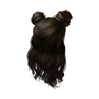 roblox code for long hair 2 buns with extra hair roblox