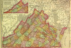 Colonial Virginia Map by Raymond D Shasteen Genealogy Our Ancestors Got Us