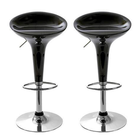 Tabouret De Bar Noir 1631 by Tabouret De Bar Jazz Noir Lot De 2