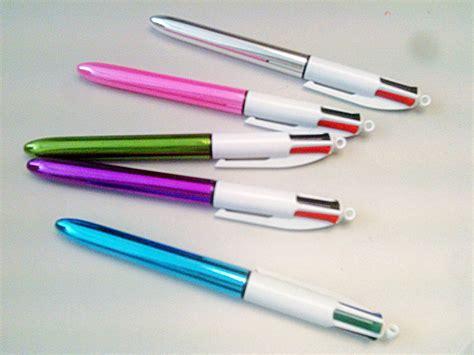 bic multi color pen bic 4 colours shine retractable pens pink purple