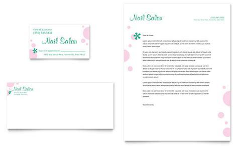 Nail Salon Business Card Letterhead Template Design Nail Salon Business Plan Template
