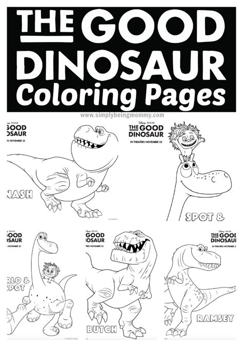 good sheets the good dinosaur coloring pages simply being mommy