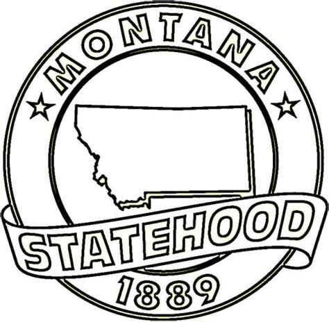 montana state coloring page supercoloring com