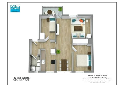 Small House Floorplan by 3d Floor Plans Roomsketcher