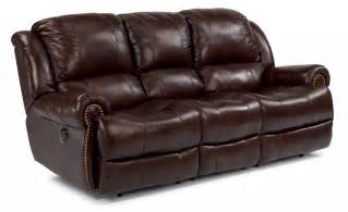 Power Reclining Sofa Leather Flexsteel Living Room Leather Power Reclining Sofa 1311 62p Blockers Furniture Ocala Fl