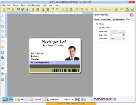 id card design creator id card maker software create identity cards