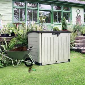 store it out arc plastic garden storage box departments