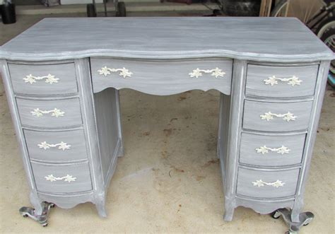 how to paint a desk white desk in driftwood milk paint and winter white glaze