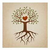 Tree with heart and roots poster | Zazzle
